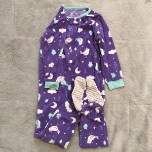3T warm footed pajamas